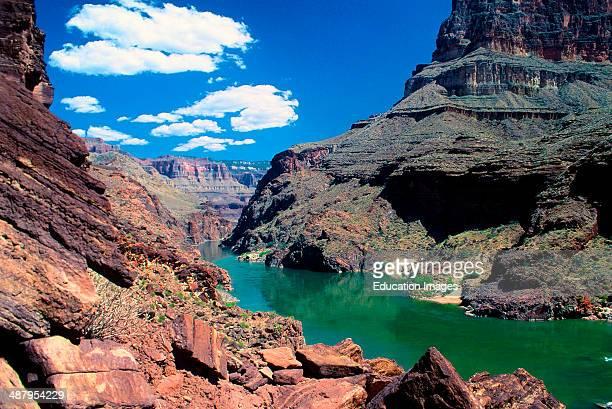 Arizona Grand Canyon National Park Colorado River From above Deer Creek Falls