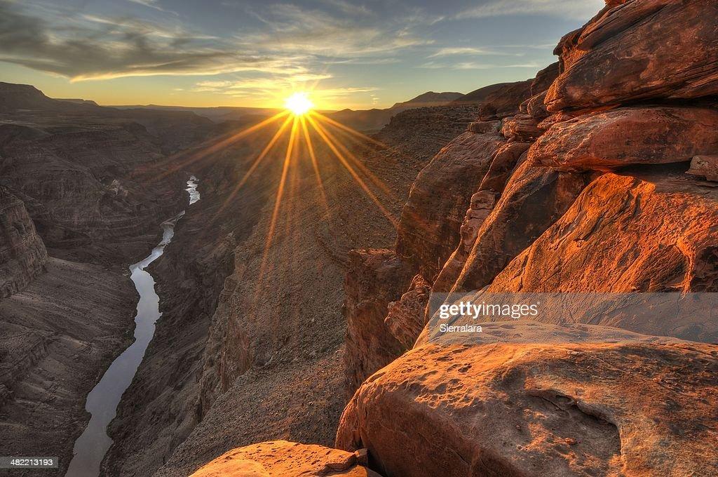 USA, Arizona, Grand Canyon National Park, View of Toroweap at sunset