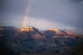 USA, Arizona, Grand Canyon, rainbow over canyon