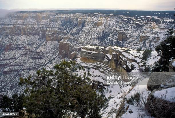 Arizona Grand Canyon SnowCovered South Rim