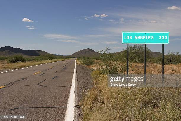 USA, Arizona, highway sign for Los Angeles