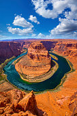 Arizona Horseshoe Bend meander of Colorado River in Glen Canyon