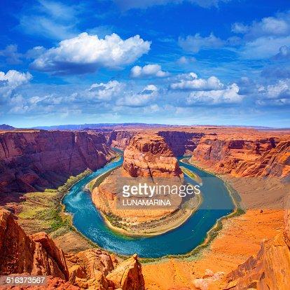 Arizona Horseshoe Bend meander of Colorado River : Stock Photo
