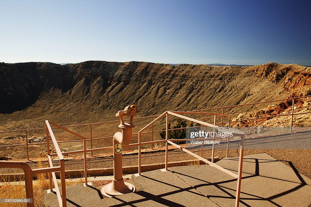 USA, Arizona, meteor crater viewing area : Stock Photo