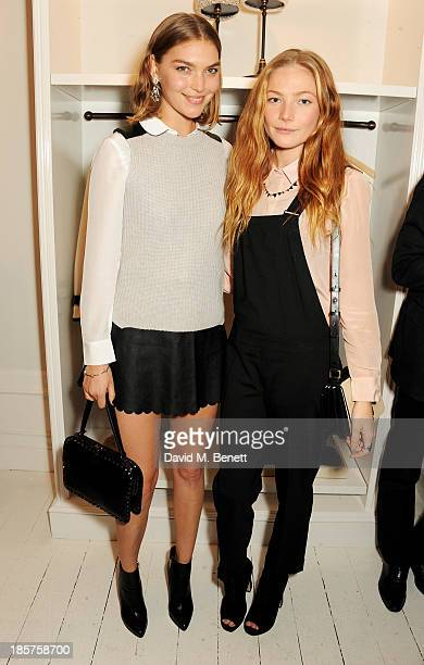 Arizona Muse and Clara Paget attend a drinks reception celebrating the opening of Club Monaco's first London store in Westbourne Grove on October 24...