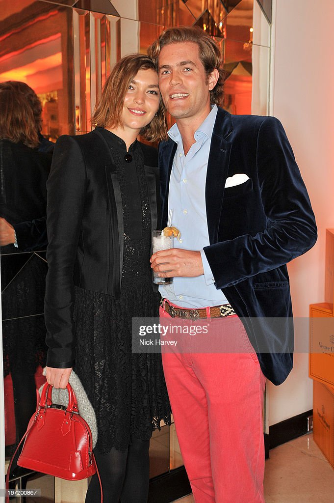 Arizona Muse and Constantin Bjerke attend the Veuve Clicquot Business Woman of the Year award at Claridges Hotel on April 22, 2013 in London, England.