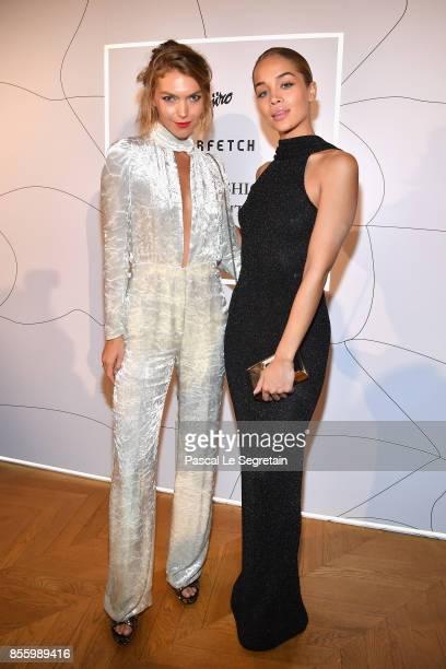 Arizona Muse and Jasmine Sanders attend the Buro 24/7 X Farfetch Fashion Forward Initiative as part of the Paris Fashion Week Womenswear...