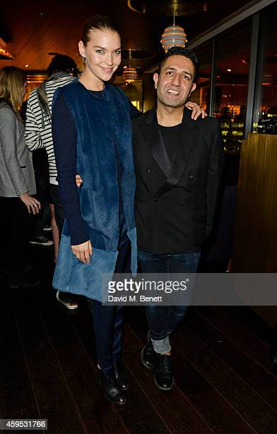 Arizona Muse and Osman Yousefzada attend as Osman Yousefzada and Poppy Delevingne celebrate the launch of the fourth issue of collaborative journal...