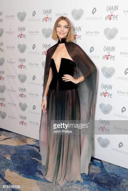 Arizona Muse arriving at the Chain Of Hope Gala Ball held at Grosvenor House on November 17 2017 in London England