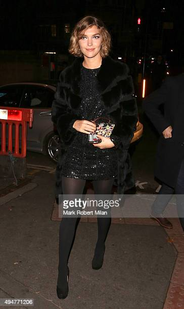 Arizona Muse attending The Veuve Clicquot Widow Series launch party on October 28 2015 in London England