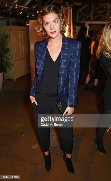 Arizona Muse attends a candlelit dinner for VINCE at Clifton Nurseries on November 11 2015 in London England