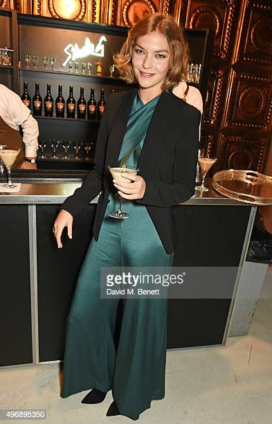 Arizona Muse attends an intimate dinner party hosted by Alice Temperley to celebrate 15 years of Temperley at GWP Studio on November 12 2015 in...