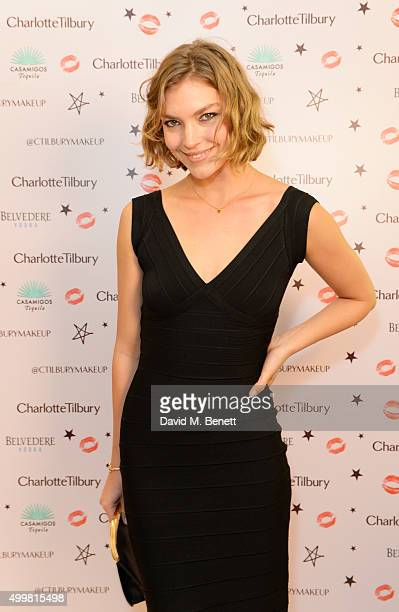 Arizona Muse attends Charlotte Tilbury's naughty Christmas party celebrating the launch of Charlotte's new flagship beauty boutique in Covent Garden...