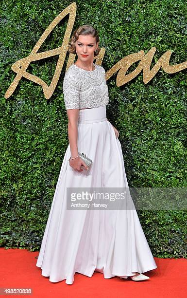 Arizona Muse attends the British Fashion Awards 2015 at London Coliseum on November 23 2015 in London England