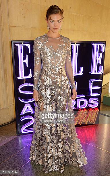 Arizona Muse attends The Elle Style Awards 2016 after party on February 23 2016 in London England