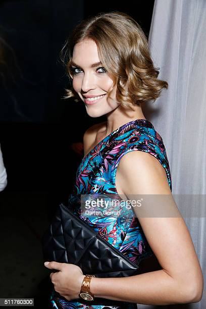 Arizona Muse attends the Erdem x Selfridges Wrap Party during London Fashion Week Autumn/Winter 2016/17 at on February 22 2016 in London England