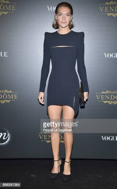 Arizona Muse attends the Irving Penn Exhibition Private Viewing Hosted by Vogue as part of the Paris Fashion Week Womenswear Spring/Summer 2018 on...