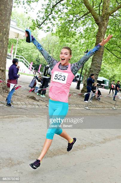 Arizona Muse attends the Lady Garden 5K 10K Run in aid of Silent No More Gynaecological Cancer Fund in Hyde Park on May 13 2017 in London England