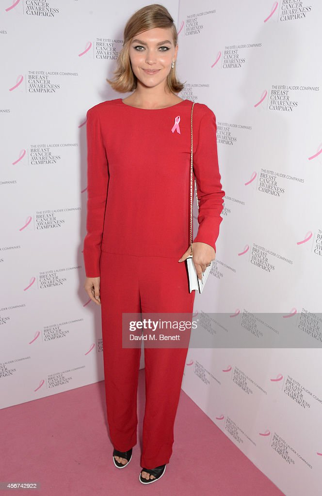 Arizona Muse attends the launch of The Estee Lauder Companies' UK Breast Cancer Awareness (BCA) Campaign 2014 'Hear Our Stories. Share Yours' at Kensington Palace on October 6, 2014 in London, England.