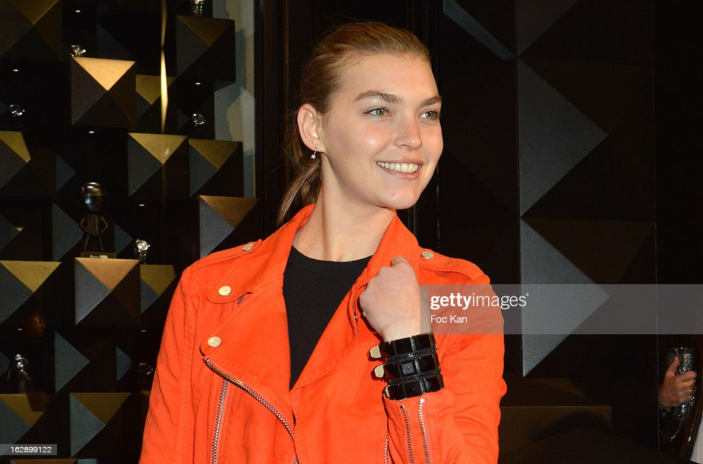 Arizona Muse attends the opening of the Karl Lagerfeld concept store during Paris Fashion Week Fall/Winter 2013 at Karl Lagerfeld Concept Store Saint Germain on February 28, 2013 in Paris, France.