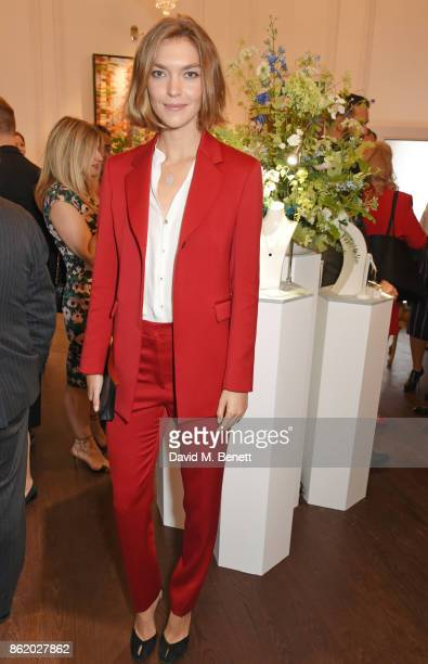 Arizona Muse attends the UK launch of Birks Jewellery at Canada House Trafalgar Square on October 16 2017 in London England