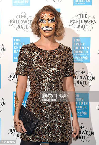 Arizona Muse attends the UNICEF Halloween Ball at One Mayfair on October 29 2015 in London England