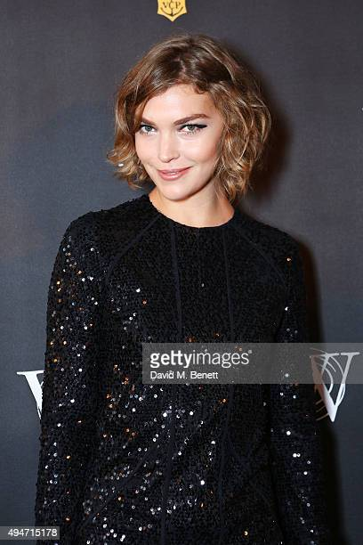 Arizona Muse attends the Veuve Clicquot Widow Series 'A Beautiful Darkness' curated by Nick Knight and SHOWstudio on October 28 2015 in London England