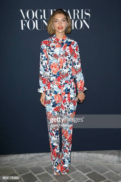 Arizona Muse attends the Vogue Foundation Dinner during Paris Fashion Week as part of Haute Couture Fall/Winter 20172018 at Musee Galliera on July 4...