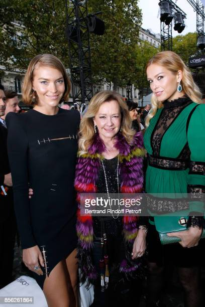Arizona Muse Caroline Scheufele and Petra Nemcova attend 'Le Defile L'Oreal Paris show' as part of the Paris Fashion Week Womenswear Spring/Summer...