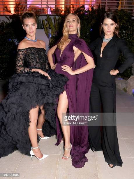 Arizona Muse Petra Nemcova and Isabeli Fontana attend the Vanity Fair and Chopard Party celebrating the Cannes Film Festival at Hotel du CapEdenRoc...