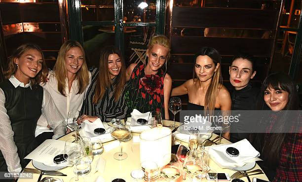 Arizona Muse Tori Cook Sara MacDonald Poppy Delevingne Maria Hatzistefanis Erin O'Connor and Zara Martin attend the Rodial dinner hosted by Poppy...