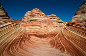 USA, Arizona, Paria Canyon-Vermilion Cliffs Wilderness, The Wave, sandstone rock formation