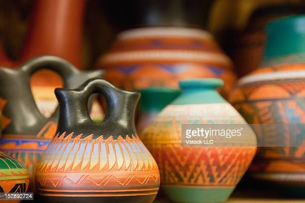 USA, Arizona, Phoenix, Hand painted pottery