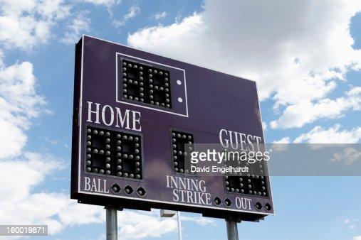 USA, Arizona, Phoenix, low angle view of scoreboard
