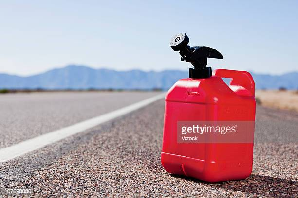 USA, Arizona, Phoenix, Red canister on empty road