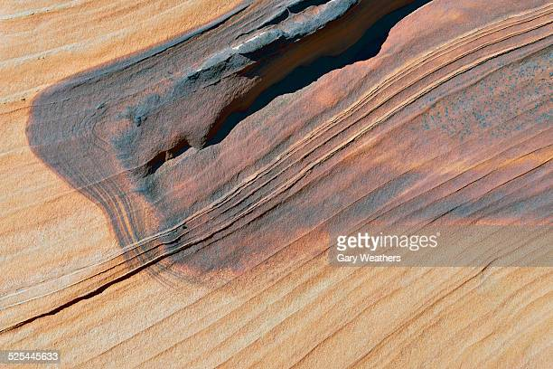 USA, Arizona, South Coyote Buttes, Art on sandstone