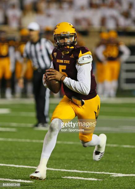 Arizona State quarterback Manny Wilkins carries the ball during the Texas Tech Raider's 5245 victory over the Arizona State Sun Devils on September...