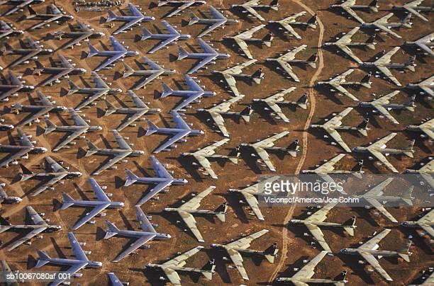 USA, Arizona, Tucson, Field of B-52 Aircraft, Davis Montham Air Force Base
