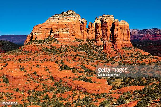 USA, Arizona, Yavapai County, Sedona, Cathedral Rock viewed from Hiline Trail Vista east side