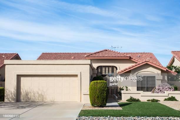 Arizona-style house design common to the region