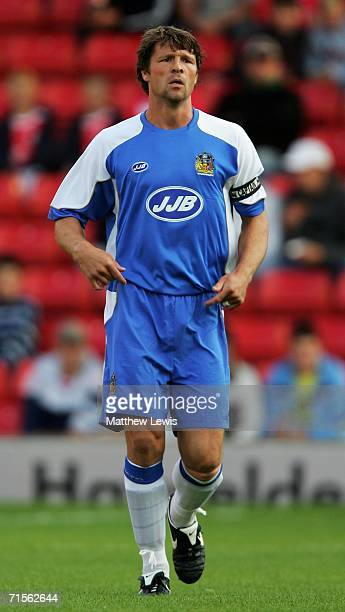 Arjan De Zeeuw of Wigan Athletic in action during the Preseason Friendly match between Barnsley and Wigan Athletic at Oakwell on August 1 2006 in...