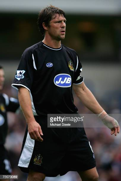 Arjan De Zeeuw of Wigan in action during the Barclays Premiership match between Blackburn Rovers and Wigan Athletic at Ewood Park on October 1 2006...