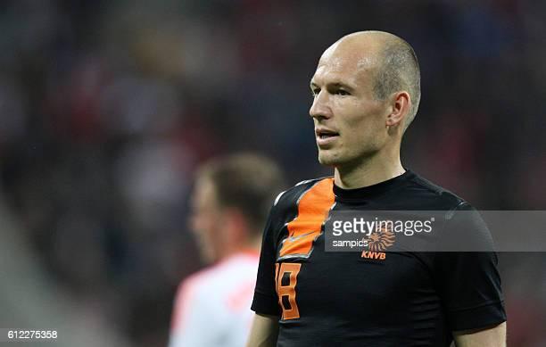 Arjen ROBBEN FC Bayern München musste sich Pfiffe der Bayern Fans anhören Fussball Freunschaftsspiel FC Bayern München Niederlande Nationalmannschaft...