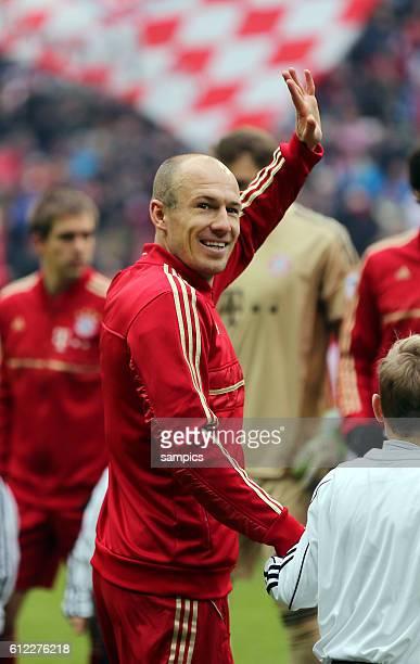 Arjen ROBBEN FC Bayern München winkt 1 Bundesliga Fussball FC Bayern München Werder Bremen 61 Saison 2012 / 2013
