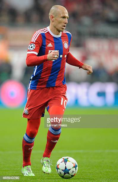 Arjen Robben of Bayern Muenchen in action during the UEFA Champions League Round of 16 second leg match between FC Bayern Muenchen and FC Shakhtar...