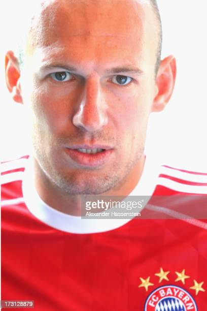 Arjen Robben of FC Bayern Muenchen looks on after a press conference at Centro Congressi on July 8 2013 in Riva del Garda Italy