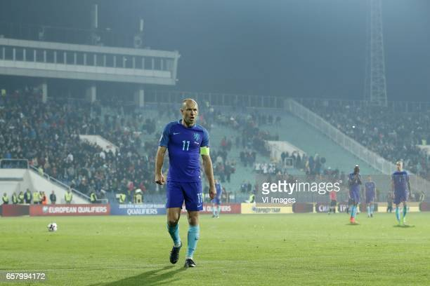 Arjen Robben of Holland Bruno Martins Indi of Holland Wesley Hoedt of Holland Rick Karsdorp of Hollandduring the FIFA World Cup 2018 qualifying match...
