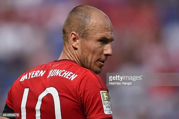 Arjen Robben of Muenchen seen during the Bundesliga match between 1899 Hoffenheim and FC Bayern Muenchen at Wirsol RheinNeckarArena on August 22 2015...