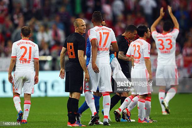 Arjen Robben of Netherlands looks on during the friendly match between FC Bayern Muenchen and Netherlands at Allianz Arena on May 22 2012 in Munich...