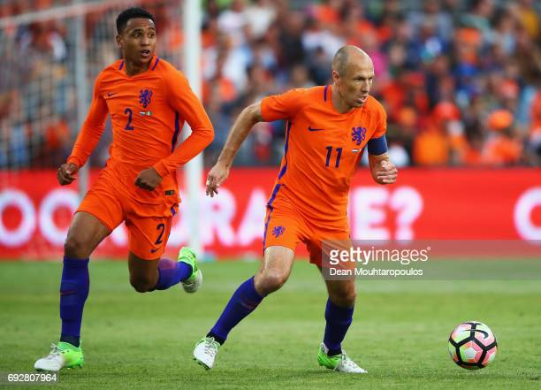 Arjen Robben of the Netherlands in action during the International Friendly match between the Netherlands and Ivory Coast held at De Kuip or Stadion...